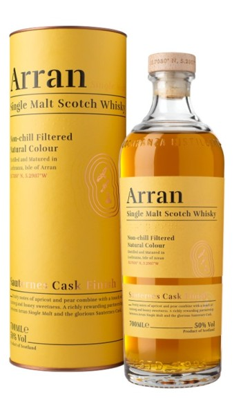 The Arran Malt Sauternes Cask Finish Whisky, Arran Distillerie