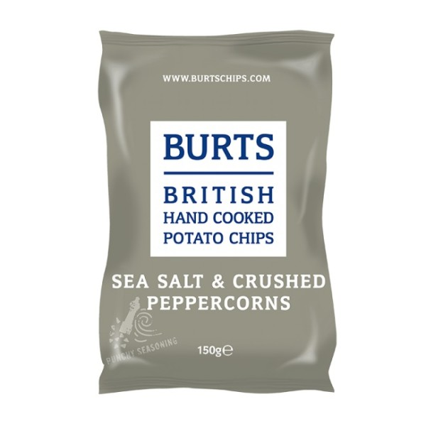 Burts British Potato Chips Sea Salt & Chrushed Peppercorns