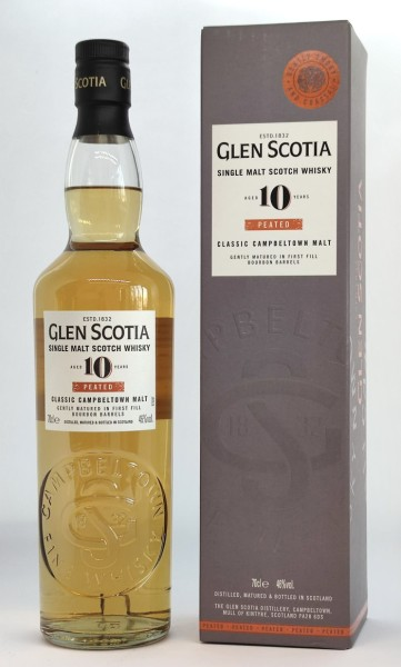 Glen Scotia 10 Jahre Peated First Fill - Single Malt Scotch Whisky - 46% Vol. - 0,7 l