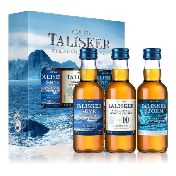 Talisker 3er Miniatur-Set - Single Malt Scotch Whisky - 0,15 l