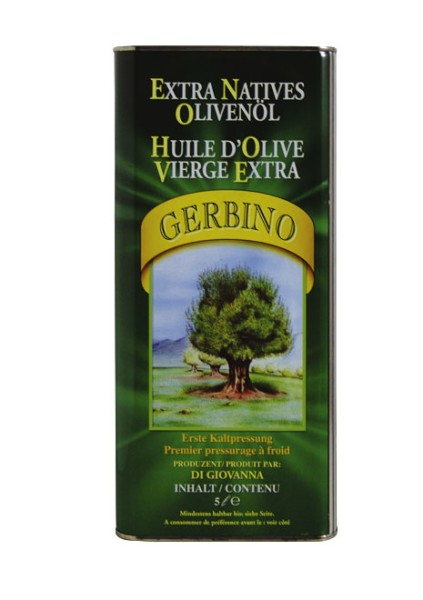 Olio extra vergine di oliva Gerbino 5,0 l-Kanister, Sizilien